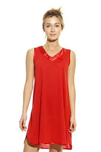 - 1530-RED-3X Dreamcrest Nightgown/Women Sleepwear/Sleep Dress