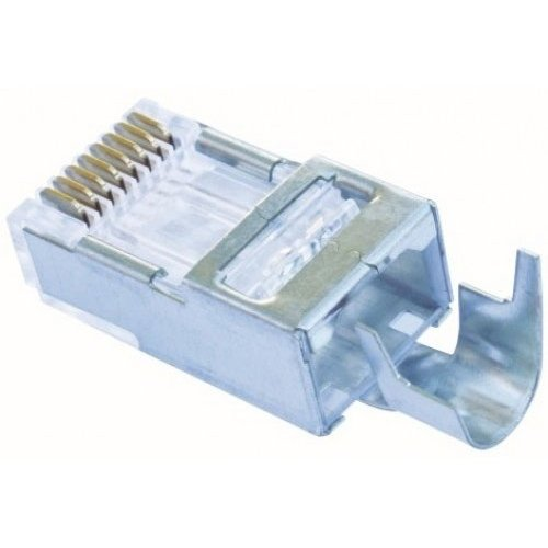 Platinum Tools 100023C EZ-RJ45 Shielded Cat5e/6, (External Ground). 10/Clamshell.(Pack of 10)