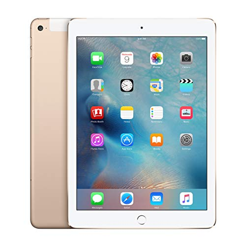 Apple iPad Air 2 128GB Factory Unlocked Gold (Wi-Fi + Cellular 4G LTE) Newest Version (Renewed)