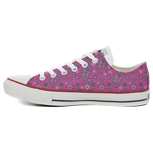 Mys Converse Customized Paysley Slim Pink Hot Chaussures Adulte produit Artisanal Coutume AArxwO