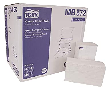 Tork Premium MB572 Soft Xpress Multifold Paper Hand Towel, 4-Panel, 2-