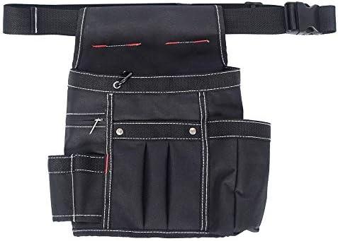 道具袋 マルチポケットキャンバスパワーツールウエストバッグ多機能工具収納機能テクニシャン木工バッグ簡単閉じる開いて、 ツール収納袋 (色 : 褐色, Size : One size)