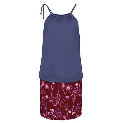 Gibobby Women's Casual Sleeveless Halter Neck Boho Print Short Dress Sundress by Gibobby_Dress (Image #3)