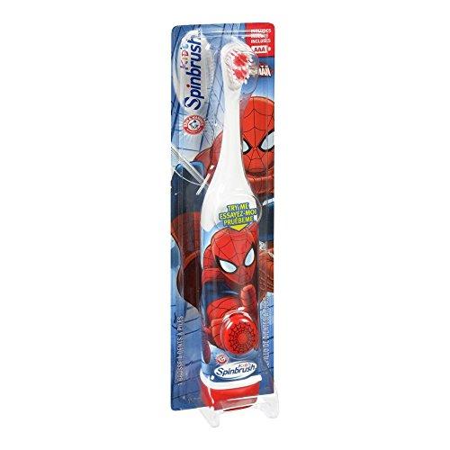 ARM & HAMMER Kid's Spinbrush Spiderman 1 Each PK12(Designs May Vary)