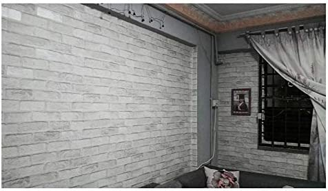 Vintage Rustic Grey White Brick Wallpaper Roll Bedroom Dinning Living Room Wall Covering Modern 3d Wall Paper Home Decor X Price In Uae Amazon Uae Kanbkam