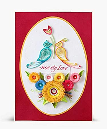 Pleasant Swapnil Arts Handmade 3D Paper Quilling For My Love Greeting Card Personalised Birthday Cards Cominlily Jamesorg