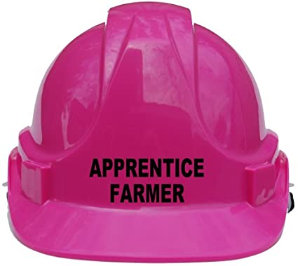 Apprentice Farmer Children, Kids Hard Hat Safety Helmet With Chin Strap One Size Adjustable Suitable for 4-12 Years (Yellow) Acce Products