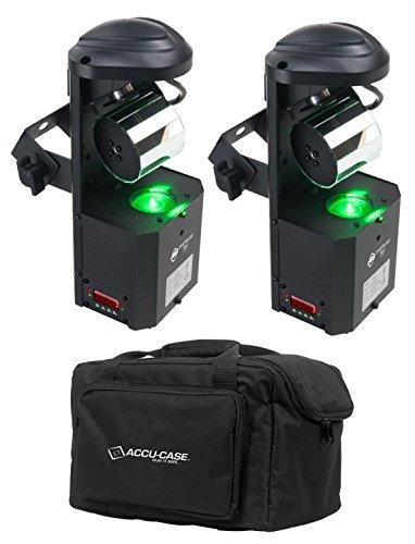 2) American DJ ADJ Inno Pocket Roll DMX LED 12W Barrel Mirror Scanner - Dmx Professional Scanner