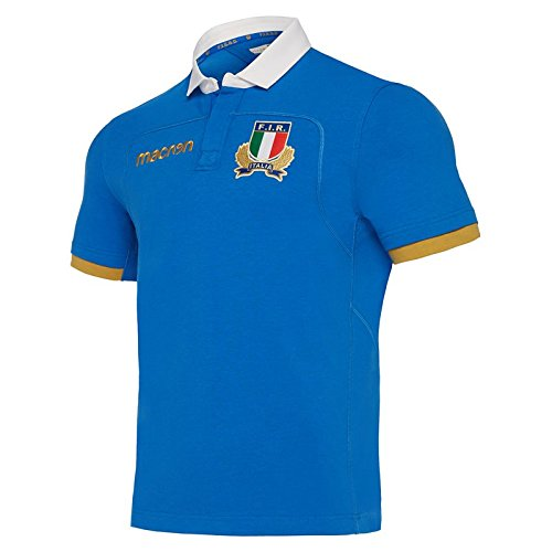 Italy Rugby FIR M17 Cotton Home Jersey SS (Usa Home Rugby Jersey)
