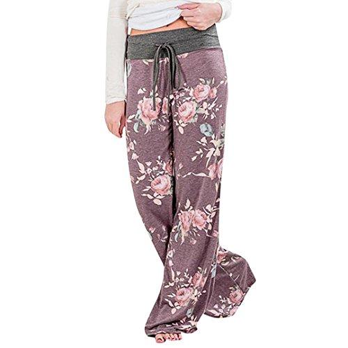 Pantaloni Laccetti Viola Alta Grandi Pantaloni con da di Donna Pantaloni Longra Pantaloni Donna Dimensioni Larghi Vita Donna Forti Pantaloni Larghi Taglie Viola Yoga gUFSdqF1
