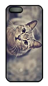for sale covers cat look up PC Black Case for iphone 5/5S