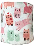 The Big One Oversized Plush Throw - Super Soft Microplush Blanket (Pink Cats)