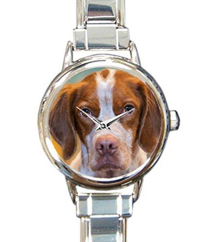 (Coolstuffs Brittany Spaniel Sliver Italian Charm Watch Fashion Quartz Watch)