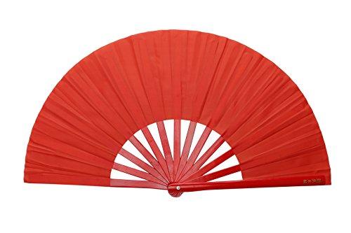 ICNBUYS Kung Fu Tai Chi Fan Red