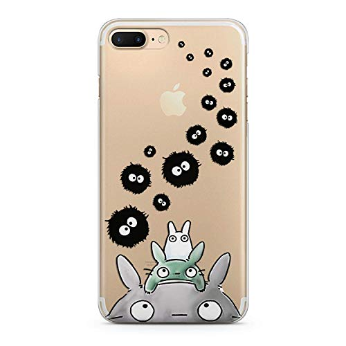 (Lex Altern TPU Case for iPhone Apple Xs Max Xr 10 X 8+ 7 6s 6 SE 5s 5 Cover Slim fit Cute Child Women Away Girls Flexible Print Lightweight Anime Spirited Design Bunny Gift Smooth Soft Clear Animals)
