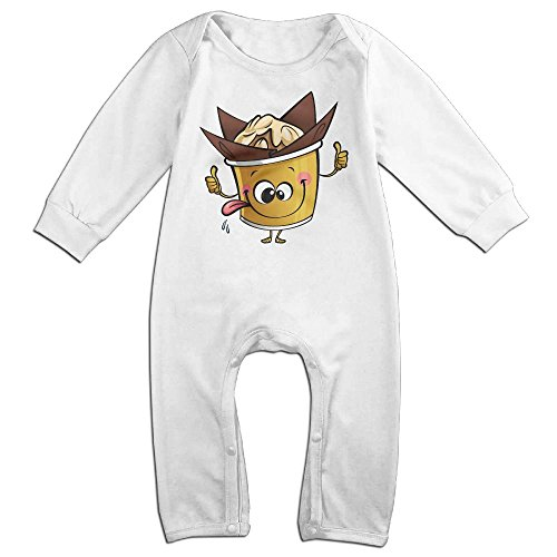 [Eilinqch Cartoon Character Sticking Tongue Baby Boys Girls Cute Long Sleeve Romper Jumpsuit Bodysuit 18 Months White] (Fast Delivery Dresses Australia)