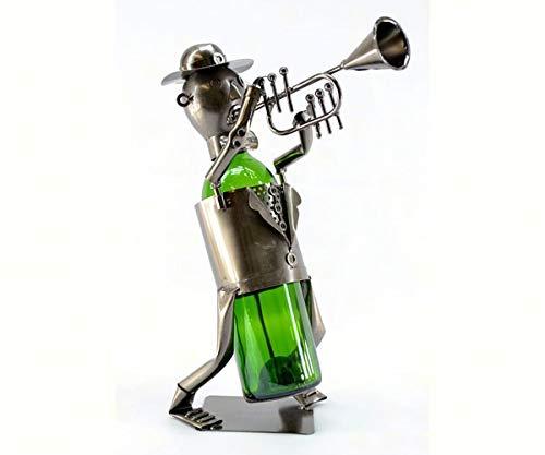 OKSLO Threezb120 trumpet player wine bottle holder ()