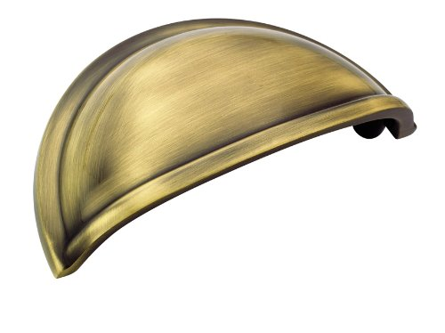Amerock BP53010EB Cup Pulls 3 in (76 mm) Center-to-Center Elegant Brass Cabinet Cup Pull (Elegant Brass Cup Pull)