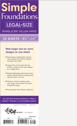 C&T Publishing Simple Foundations Legal, Translucent Vellum Paper