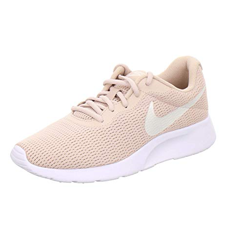 Nike Women's Tanjun Running Shoes (8 B US, Particle Beige/Phantom/White)