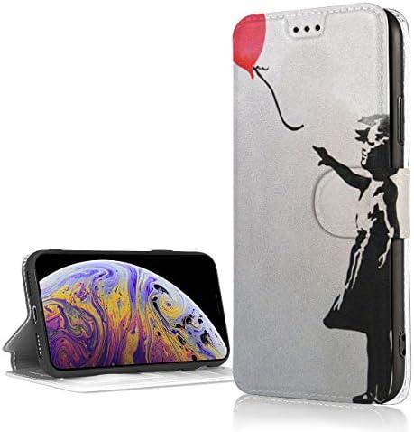 IPhone XR ケース 手帳型 バンクシーハート 風船を持つ少女 お洒落 メンズ レディース 高級PUレザー アイフォンXR ケース スマホケースXR 財布型カバー 軽量 薄型 耐衝撃 耐摩擦 全面保護 マグネット式 カード収納 スタンド機能 6.1インチ