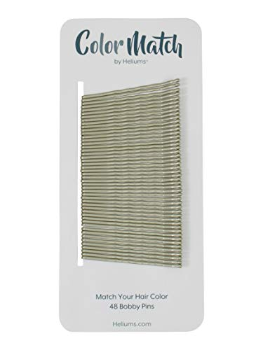 Gray Silver Premium Bobby Pins Color Match - 48 Count (1 Pack, Gray Silver)