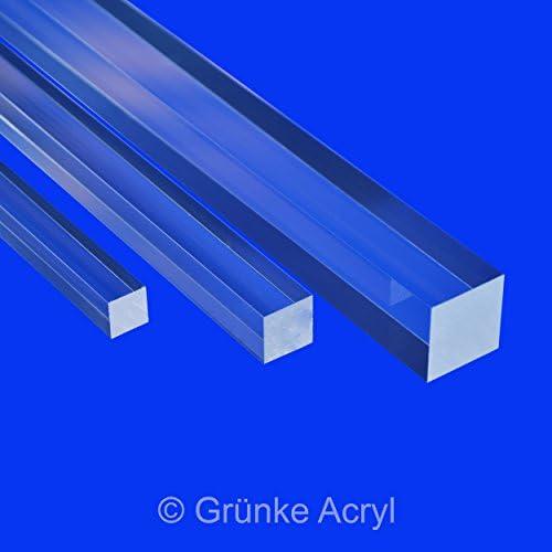 4Stk.8mmx8mmx250mm Klar Solide Acryl Quadrat Stab PMMA Stab