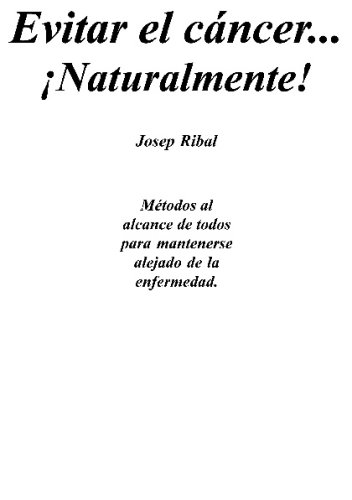 Evitar El Canceravoiding Cancer Libro Ribal Josep Epub Deslesymdi