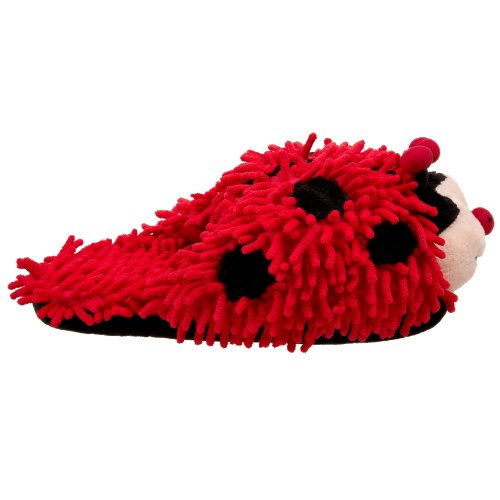 Friends Fuzzy Bug Slippers Lady Friends Fuzzy Red P0awqzER