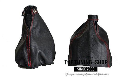 2011/Manuelle Gear Handbremsmanschette schwarz italienischem Leder mit roten N/ähten F/ür Alfa Romeo 159/2005
