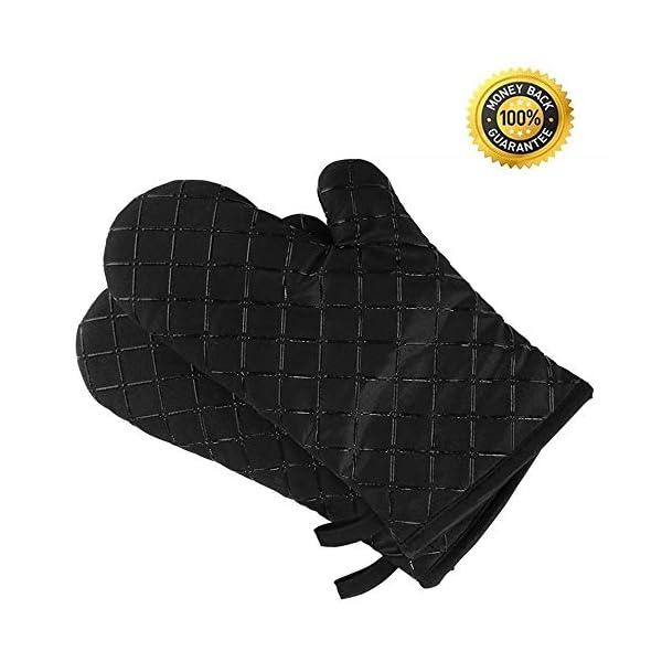 Set da 2 guanti da forno antiscivolo di qualità, resistenti fino a 240°C, in silicone, estremamente resistenti al calore… 1 spesavip