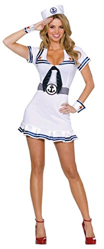 Dreamgirl Womens Cruise Cutie Sailor Nautical Outfit Fancy Dress Sexy Costume, 2XL (16-18)