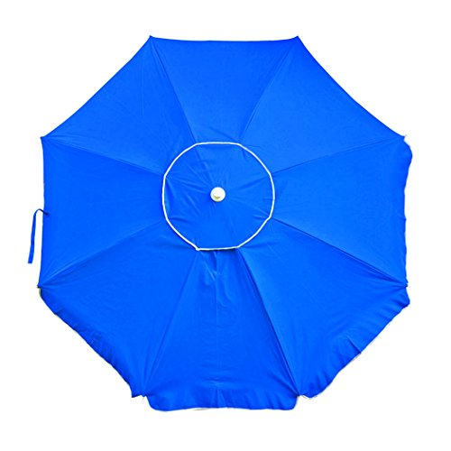Platinum 6.5 ft Polyester 100 UPF Beach Umbrella with Vent & (6.5' Polyester Beach Umbrella)