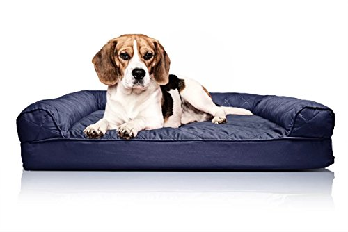Quilted Orthopedic Sofa-Style Dog Bed, Bed For Dogs (Large (36