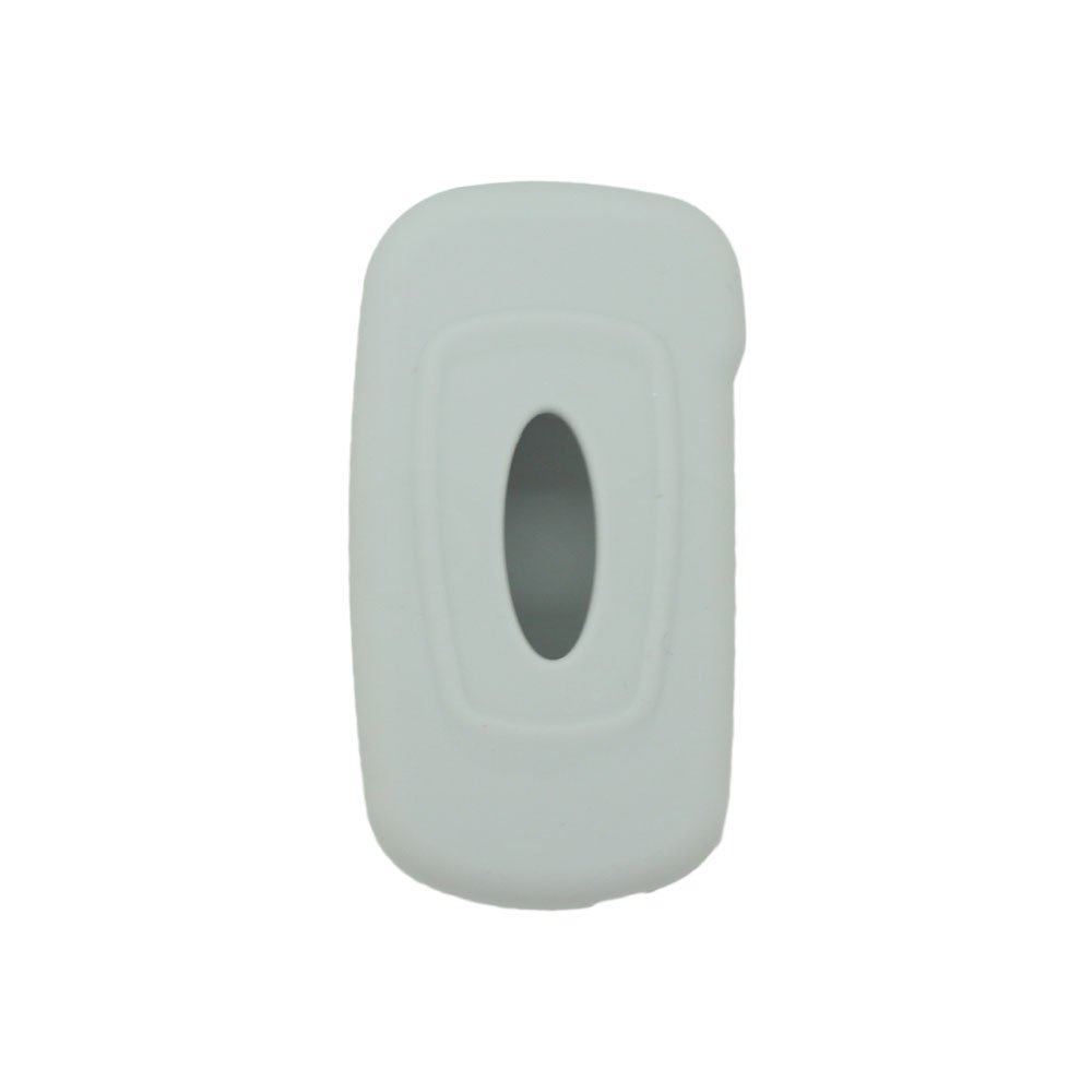 SEGADEN Silicone Cover Protector Case Skin Jacket fit for FORD 3 Button Flip Remote Key Fob CV9700 Gray