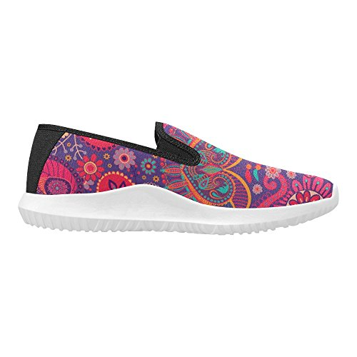 Interestprint Kvinna Slip-on Dagdrivaren Skor Duk Mode Sneakers Multi 3