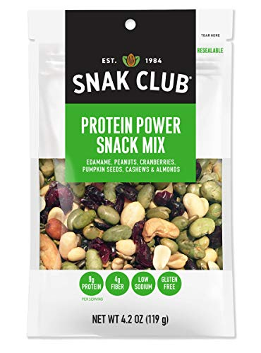 Snak Club All Natural Protein Trail Mix, Non-GMO, 4.2-Ounces, 6-Pack