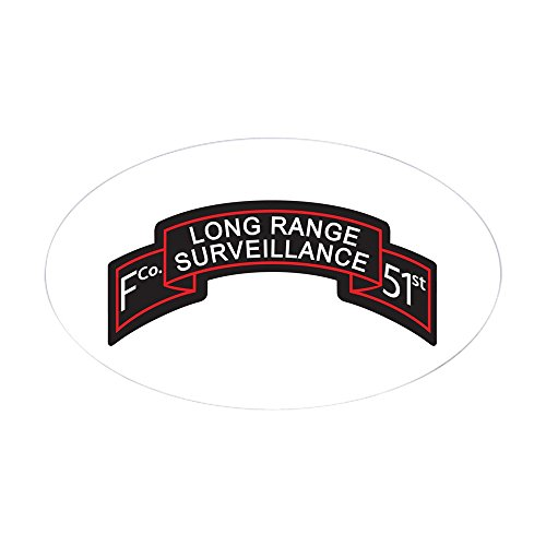 CafePress F Co 51St Infantry LRS Scroll Oval Sticker Oval Bumper Sticker, Euro Oval Car Decal (Birthday Scroll)