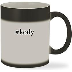 #kody - 11oz Hashtag Color Changing Sturdy Ceramic Coffee Cup Mug, Matte Black