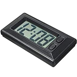 Fan-Ling 1PCS Dashboard Clock,Ultra-Thin LCD Digital Display Dashboard Clock with Calendar,Designed exquisitely, Durable