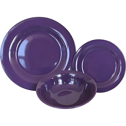 Mainstays Royal Purple 12-Piece Dinner Set
