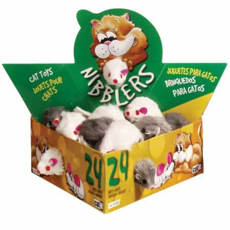 Amazon.com : Catit Deluxe Fur Mouse, Small (24/Box) : Pet Mice And Animal Toys : Pet Supplies