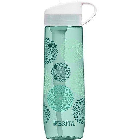 - Brita Hard-Sided Filtered Water Bottle (Teal) Mint Sunburst