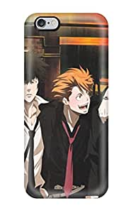 Top Quality Rugged Brunettes Pants Streets Suit Tie Belts Outdoors Shortsmiling Blush Shirts Open Mouth Drunk Anime Boys Closed Grayhiteorangemechanical Arm Looking Back Scans Psycho-pass Kougami Shinya Ginoza Nobuc Case Cover For Iphone 6 Plus