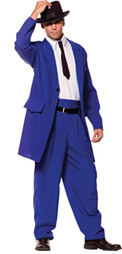Underwraps Mens Zoot Suit Elongated Jacket Gangster Party Costume, One Size