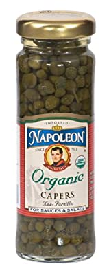 Napoleon Organic Nonpareil Capers, 3.5-Ounce Jars (Pack of 6)