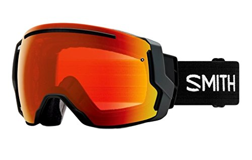 Smith Optics Adult I/O 7 Snowmobile Goggles Black / ChromaPop Everyday Red Mirror by Smith Optics