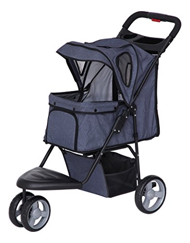 IRIS Pet Stroller, Denim