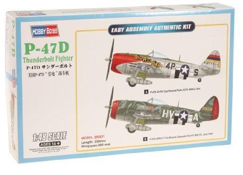 Thunderbolt Fighter P-47d (Hobby Boss Easy Assembly P-47D Thunderbolt Fighter Airplane Model Building Kit by MMD Holdings, LLC)