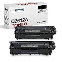 SMARTOMI - 2 Cartucho de tóner Negro de Alto Rendimiento Compatible con Cartuchos 12A Q2612A para impresoras HP Laserjet